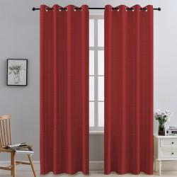 "Demure Folda - Embossed Blackout Curtain with Rings - 63"" & 84"" / Rideau occultant en relief avec anneaux"
