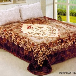 Korean Mink Foral Throw Blanket