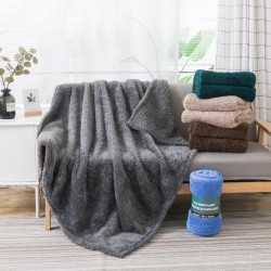 Solid Sherpa Throw Blanket