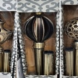 Antique Brass Drapery Set