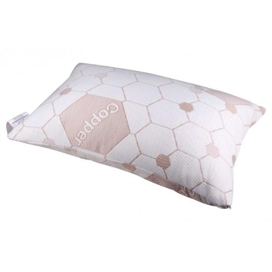 Copper Memory Foam Pillow Rolled