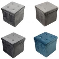 Single Foldable Storage Ottoman - Velvet