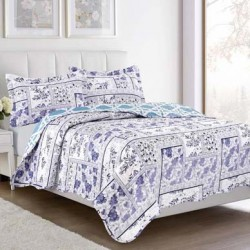 Reversible Printed 3 pc Quilt Set (PVC PACKAGE)